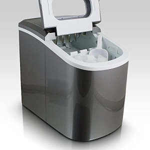 Eiswürfelmaschine Eiswürfelbereiter Eiswürfel Ice Maker Eis Maschine (Dunkelgrau) - 1